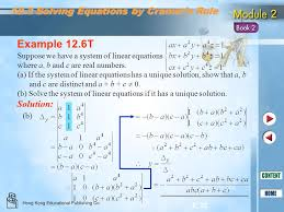 b solve the system of linear equations if it has a unique solution