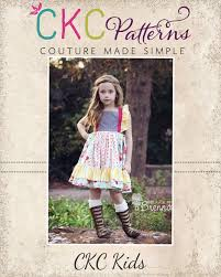 Ckc Patterns Magnificent Nova's Square Flutter Top And Dress Sizes 448448m To 48 Girls PDF Pattern