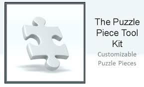 Blank Puzzle Pieces Template 8 Piece Jigsaw Free Zeitgeber Co