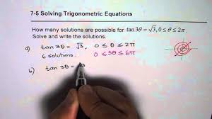 find number of solutions for tan3x trig equations mhf4u test