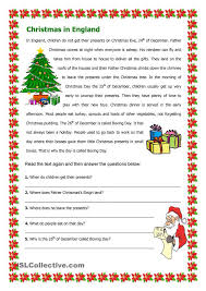 Reading Comprehension Christmas Worksheet – Festival Collections