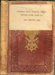small ledger books abaa stock transfer ledger 1851 1883 our title by new haven