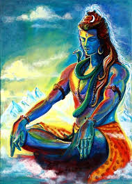 shiva in meditation poster by a little more whirl lord shiva
