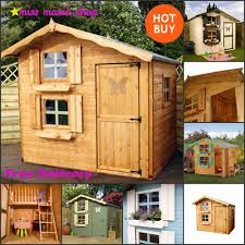 Playhouse Two Storey Wendy Play House Upstairs Large Windows Loft ...
