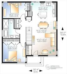 small house open floor plan level small affordable modern house plan with open floor plan concept