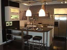 Kitchen Peninsula Kitchen Style Stylish Apartment Kitchen With Brick Walls Also