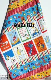 LAST ONES Dr Seuss Quilt Kit, Toddler Throw Stripes Panel, Dr ... & LAST ONES Dr Seuss Quilt Kit, Toddler Throw Stripes Panel, Dr Seuss Blanket,  Bedding, Beginner Simple, Bright Colors Primary, ... Adamdwight.com