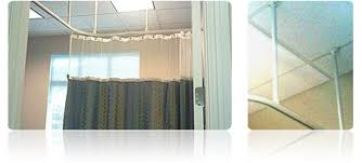 office cubicle curtain. suspended cubicle curtain track office