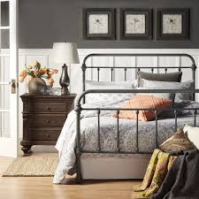 Full Size Of Bedroom Design:king Size Bed Frame Grey Metal King Size Bed  Frame ...