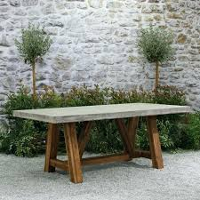 concrete outdoor dining table diy top uk sets