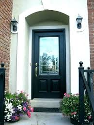 double front doors with glass black entry door and half stained fibergl