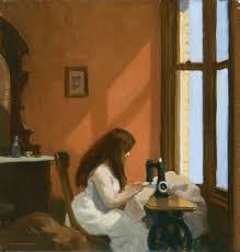 edward hopper girl at a sewing machine 1921 jpg