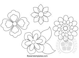 Flowers Templates Flower Templates Free Printable Flowers Templates