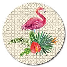Printed ACM <b>Circle</b>: <b>Flamingo</b> – Tigerlily Gift Store