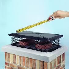 top mount chimney cap measure