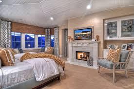 Elegant White Fireplace Design In Bedroom