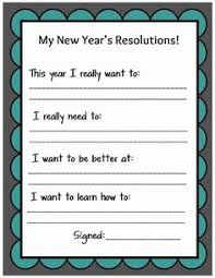 new year s activity great launching for point for paragraph  kid friendly new year s resolution printable