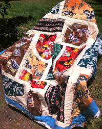 618 best Hawaiian Quilts images on Pinterest | Modeling, Patchwork ... & Full size quilt for my big brother. Made with Hawaiian shirts from the  thrift shop Adamdwight.com