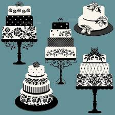 elegant wedding cake clipart. Contemporary Clipart Elegant Wedding Or Birthday Cake Clip Art Set By Digitalfield 400 With Clipart