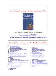 Mla Citation Style Complete Guide Mla Handbook 6th Edition