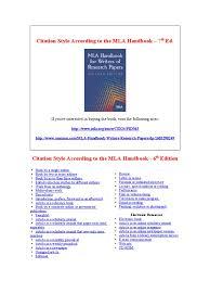 Mla Citation Style Complete Guide Mla Handbook 6th Edition