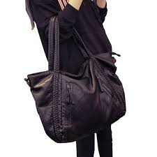 capacity fashion handbags leather shoulder