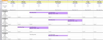 Strategic Planning Calendar Template