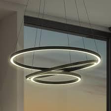 led suspended ring pendant light