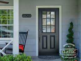 fiberglass single dutch door classic style custom 9 lite sdl top leaf and 2