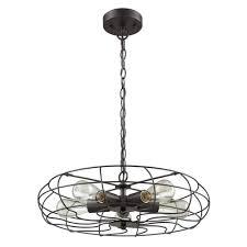 Industrial Cage Light Fixture Glanzlight Gl 63510 Retro 5 Lights Chandelier Round