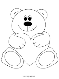 Teddy Bear Heart Coloring Page Color Pages Teddy Bear Coloring