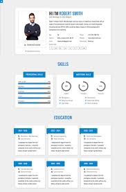 Free Html Resume Template Extraordinary 48 Best Html Resume Templates For Awesome Personal Sites Template