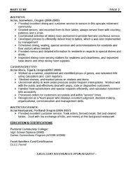 Waitress Resume Example Fascinating Server Resume Example Bartender Resumes Server Resume Sample Canada