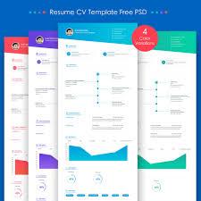 Free Web Resume Templates 100 Best Free Resume Cv Templates Psd Download Download Psd Web 7