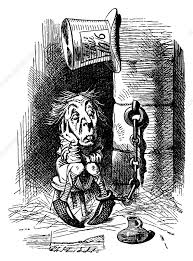 looking glass the mad hatter in chains