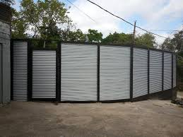 solid metal fence. 8ft High Custom Corrugated Metal Fence - Dallas Solid