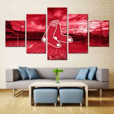 image is loading boston red sox 5 piece framed canvas art  on boston red sox canvas wall art with boston red sox 5 piece framed canvas art wall art ebay