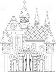 Coloriage Chateau De Princesse Dessin
