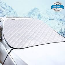 Frost Guard Windshield Cover Size Chart Vanleestar Car Window Covers For Winter Car Windshield Snow Ice Frost Guard Wiper Visor Protector Fits For Compact Cars Sedans Small Crossovers