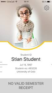 Guidelines Student - For The – Of Mobile Id Using Oslo University App
