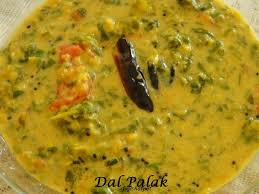 first cook the dal with sufficient water 2 add the chopped palak turmeric powder red chilly powder green chillies sliced tomatoes sliced garlic and salt