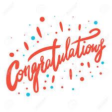 Congratulations Poster Congratulation Hand Written Lettering For Congratulations Card