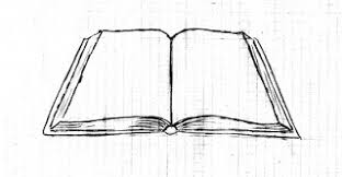 drawing an open book
