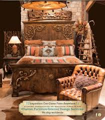 Southwest Wood Bed, Western Style Bed, Luxurious Western Furniture Store,  Rustic Elegant Bedroom