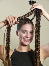 World's Greatest Shave: Teen shaves off metre-long hair for research |  Herald Sun