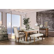 Williams Home Furnishing Walsh Natural Tone Industrial Style Dining