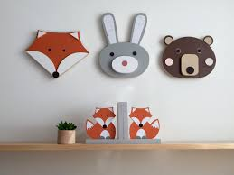 animal wall art wood wall art wooden animal nursery decor bear bunny fox faux taxidermy woodland nursery animal baby on safari themed nursery wall art with animal wall art wood wall art wooden animal nursery decor bear