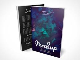 5 5 x 8 5 standing softcover paperback c format books psd mockup