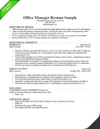 Manager Responsibilities Resume Office Assistant Job Description