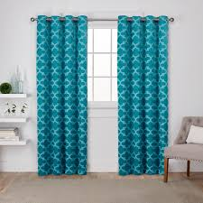 cartago teal insulated woven blackout grommet top window curtain